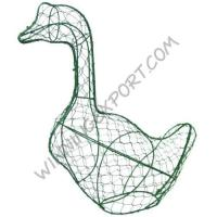 Wholesale 18 INCHES WIRE TOPIARY FRAME-GOOSE IN GREEN LACQUERED,OPENABLE HALF TO HALF from china suppliers