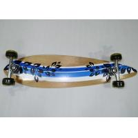 Quality Kids Stable Maple Wood Plain Skateboards with PVC Cushion / Aluminum Truck for sale
