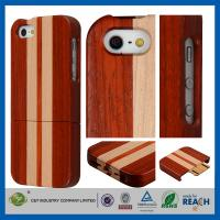 Wholesale Dustproof Shock Resistant Stripe Bamboo Iphone 5 5S Case Cover , Mobile Phone Protective Shell from china suppliers
