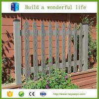 China Product list new design WPC fence lowest price wood plastic composite suppliers on sale