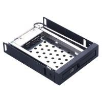 China Unestech 2.5in aluminum black panel sata hard drive enclosure hot swap hdd mobile rack on sale