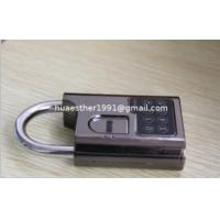 Wholesale biometric padlock is called fingerprint padlock used in school, warehouse, container from china suppliers