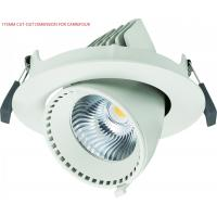 Wholesale Adjustable 40W Angled LED Gimbal Downlight Led Recessed Lighting 3500lm from china suppliers