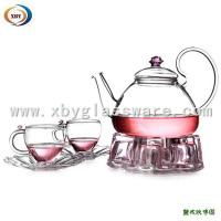 Wholesale Pyrex glass coffee teapot and cup sets from china suppliers