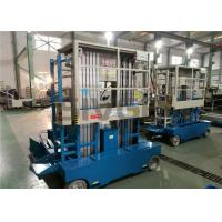 Wholesale 300kg Capacity Aerial Lift Platform , Dual Mast 10m Height Self Propelled Manlift from china suppliers