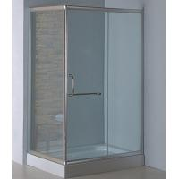 Wholesale Rectangle complete shower enclosures with tray satin silver aluminum alloy #6463 frame from china suppliers