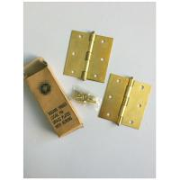 Square Type 4 Inch Solid Brass Door Hinges Bb Print Loose Pin Easy Installation