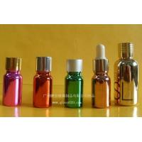 Quality Fragrance Glass Essential Oil Bottles Electroplated With Tamper Evident Dropper for sale