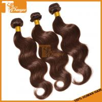 Wholesale 2014 New Arrival Ombre Hair Weaves Grade 5A Brazilian Peruvian Malaysian Indian Hair Color 4# Body Wave Hair Extension from china suppliers
