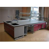Stainless Steel Modular Laboratory Furniture Grey Top 304 SUS High Strength Hinge