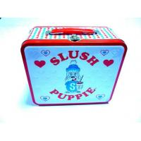 Wholesale Lunch Metal Tin Box Tinplate Rectangle 0.25mm Thickness With Hinge from china suppliers