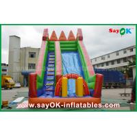 Wholesale Safety PVC Tarpaulin Inflatable Bouncer Slide Yellow / Green Color For Playing from china suppliers