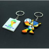 Buy cheap custom soft rubber PVC key chain with logo design from wholesalers
