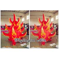 Wholesale Customized 2m Height Red Inflatable Fire for Stage Decoration from china suppliers