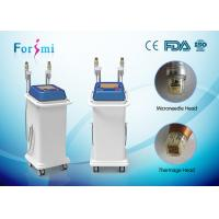 Wholesale 2 handles gold-plated copper needle head secret rf fractional microneedle for skin rejuvenation from china suppliers