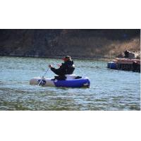 Wholesale Blue Mini Pontoon Inflatable Fishing Dinghy , 1.5m Float Inflatable Belly Boat from china suppliers