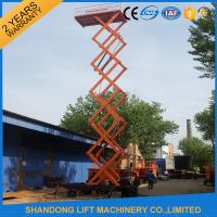 Wholesale 12m 500kg Mobile Scissor Lift Tables with Electric Hydraulic Motor Lift Drive from china suppliers