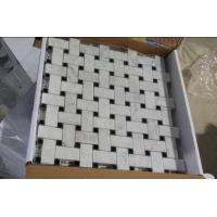 Quality Brown Marble Mosaic,Herribone Mosaice,Hexagon Mosaic,Basket Wave Design Mosaic for sale
