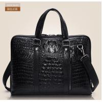 Wholesale 2014 hot selling pure crocodile pattern cross-body totes leather for commercial man from china suppliers