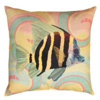 Wholesale High End Square Outdoor Decorative Pillows For Couch Printing Tropical Angel Fish from china suppliers