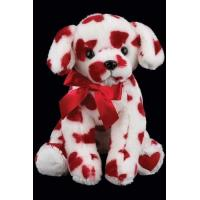 Wholesale 25cm Valentines Day Soft Dog With Red Heart  Stuffed Push Toys For Gifts from china suppliers