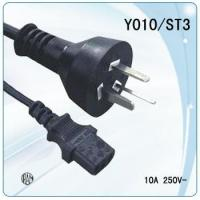Wholesale IRAM certificate 3pin Argentina power cable with computer connector from china suppliers