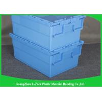 Wholesale Foldable Large Distribution Plastic Attached Lid Containers Environmental Protection Blue from china suppliers