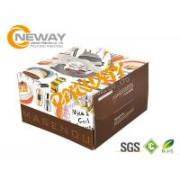 Wholesale Printed Packaging Boxes , Packing Factory Made Printed Paper Cake Box With Handle from china suppliers