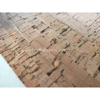 Wholesale Real Wood Pattern Rubber Sheet Roll Natural Cork Leather Fabric for Shoes Making from china suppliers