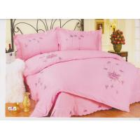 Wholesale OEM 100 % Cotton Bedroom Pink Floral Printed Embroidered Home Textile from china suppliers