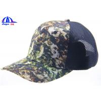 Wholesale Youth Trucker Mesh Camo Baseball Caps With Velcro Back Closure , Camouflage Baseball Hats from china suppliers