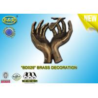 Quality No. BD029 Brass Hands Tombstone Decoration Bronze Funeral Accessories Size 17.5*10 Cm Copper Alloy for sale