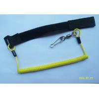 Wholesale Window Cleaning Coiled Spiral Safety Tool Lanyards Yellow With  / Swivel Link from china suppliers