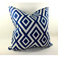 Wholesale Blue white plaid Cotton Throw Pillows Decorative For couch / bed / chair from china suppliers
