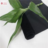 Wholesale Shrink Resistant Black Tricot Fabric , Jewelry Case Lining Flocked Velvet Fabric from china suppliers