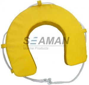 Wholesale Yellow / White PVC Horseshoe Lifebuoy Leisure Boat Yacht Lifesaving Ring from china suppliers