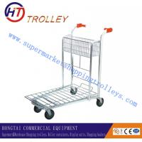 Wholesale Customized Zinc Plated Warehouse Hand Trolley Unfolded 1490x735x930mm from china suppliers