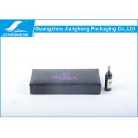 Quality Black Coated Paper Eyelashes Packaging Box Book Shape With Purple Hot Stamping for sale