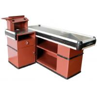 Wholesale OEM  Metal Supermarket Checkout Counter , Shop Cash Counter Without Belt from china suppliers