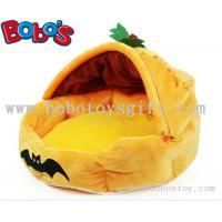 Wholesale Specially Design Plush Stuffed Pumpkin With Bats Pet Bed As Hallowmas Gift for dog cat from china suppliers