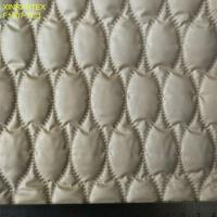 Buy cheap F6059 ultrasonic embossing laminating 100% polyester termo qualiting fabric for winter heavy downcoat from wholesalers