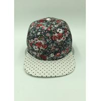 Wholesale Adjustable Hip-Hop Floral Snapback Hats / Flower Snapback Caps For Guys from china suppliers