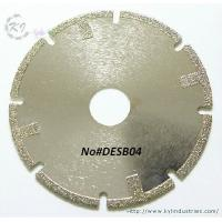 Wholesale Electroplated Segmented Saw Blades - DESB04 (Straight protective teeth) from china suppliers