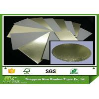 Quality Grey Back Cake Boards Metalized Shiny Laminated Gold Foil Paper for sale