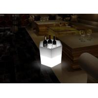 Wholesale Champagne Wine Bottle Ice Cooler Oval Shape Led Ice Bucket Plastic PE Material from china suppliers