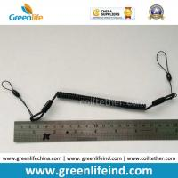 Wholesale Plastic Black Slim Coiled Lanyard Pen Tether Stop Lost Cable from china suppliers