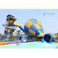Wholesale Big Tornado Fiberglass Pool Slides , High Capicity Family Water Slide Games from china suppliers