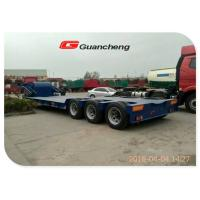 Wholesale 3 Axle 60 Ton Low Bed Semi Trailer With High Tensile Steel Q345B Material from china suppliers