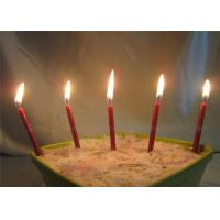 Wholesale Diameter 0.5cm Glitter Birthday Candles For Festival , Red Brown Long 7.4cm from china suppliers