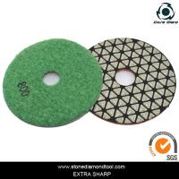 Quality 80mm Dry stone marble granite polishing abrasive pads for grinder for sale